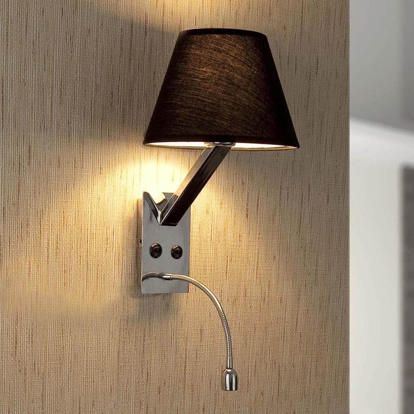 Fleksibel Moma-2 LED-væglampe i sort