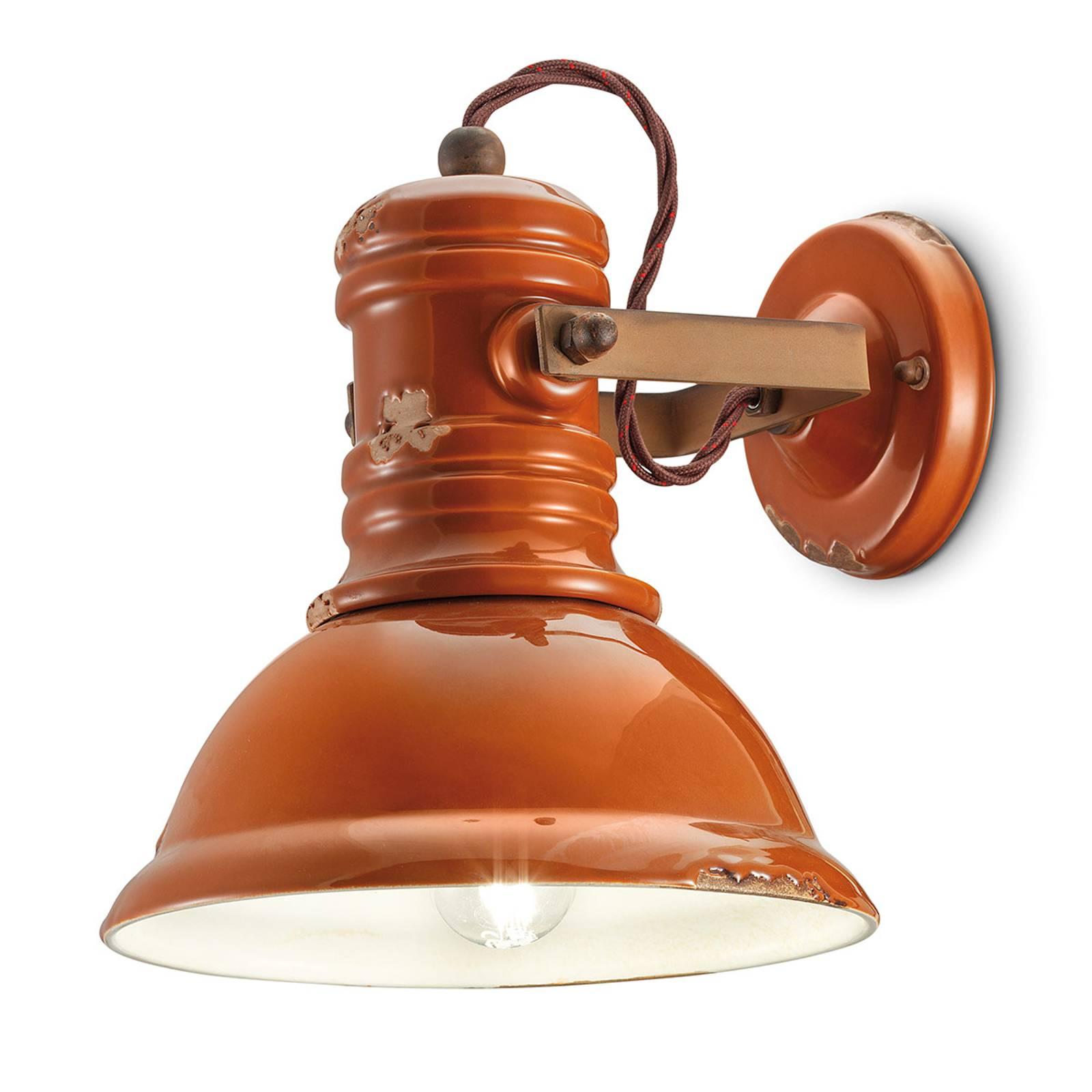 Applique céramique C1693 style industriel orange