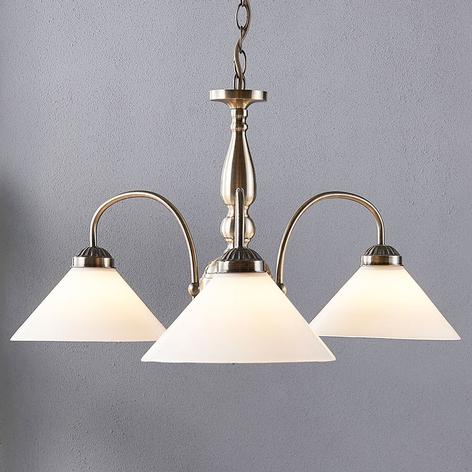 Skleněná závěsná lampa Otis, 3bodová