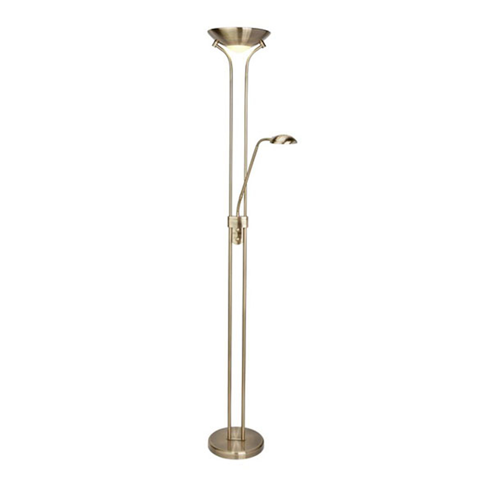 Lampadaire ind. LED Mother & Child, laiton ancien