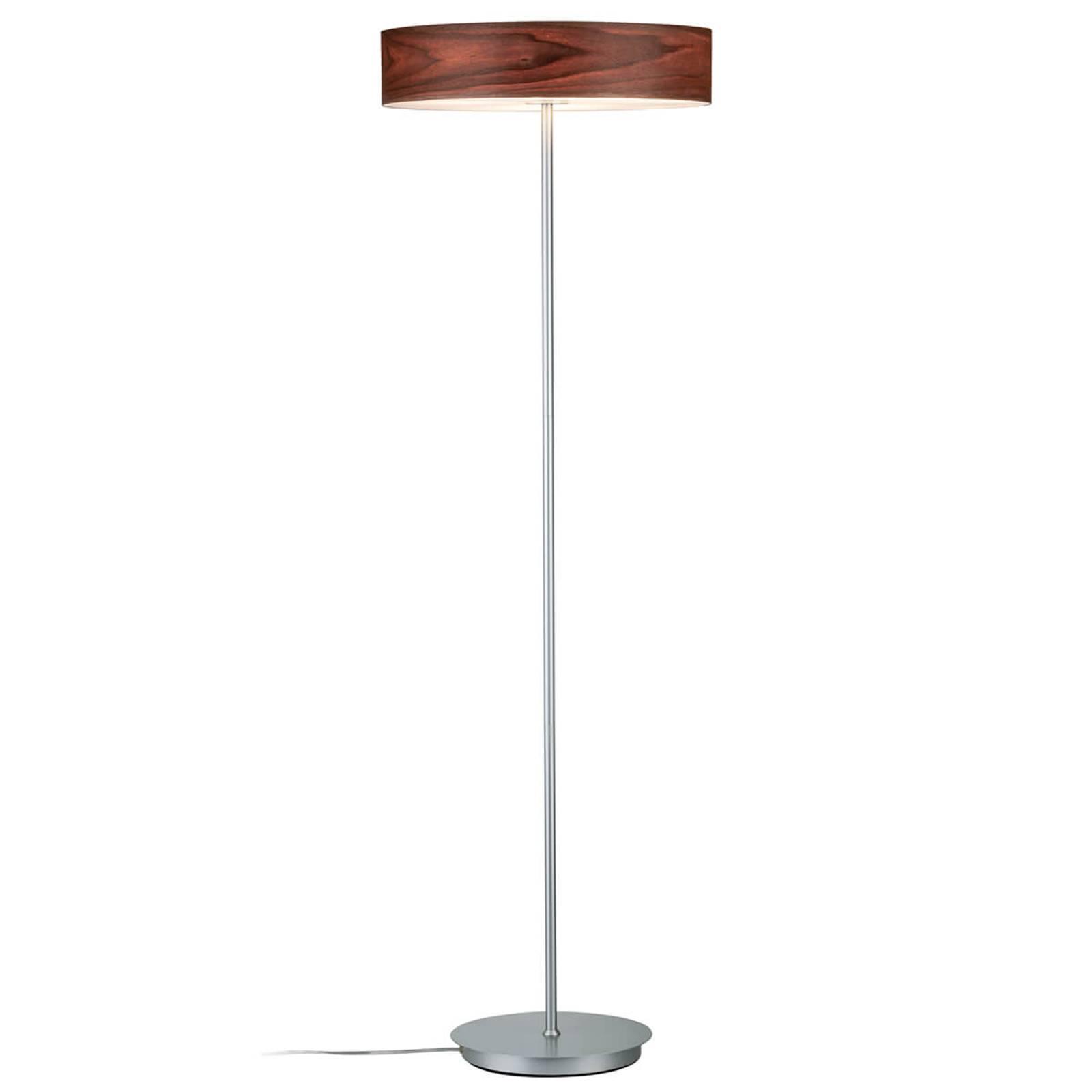 Moderne vloerlamp Liska met houten kap