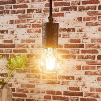 Jednoduchá závěsná lampa Jake, starožitná rez