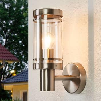 Udendørs væglampe Djori i rustfrit stål