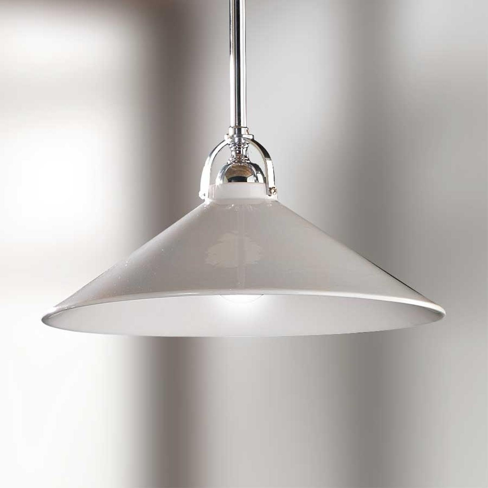 Witte hanglamp GIACOMO met keramieken kap