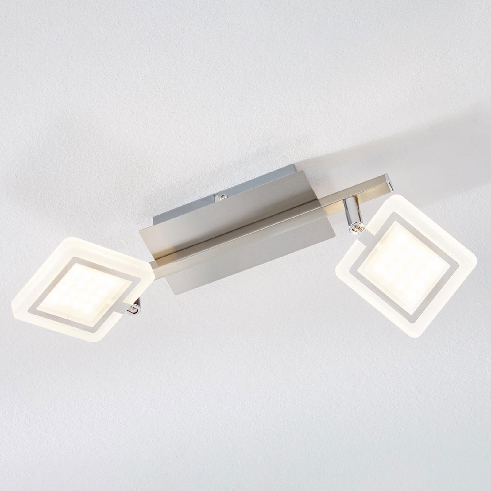 Faretto da soffitto LED Evelina a 2 luci