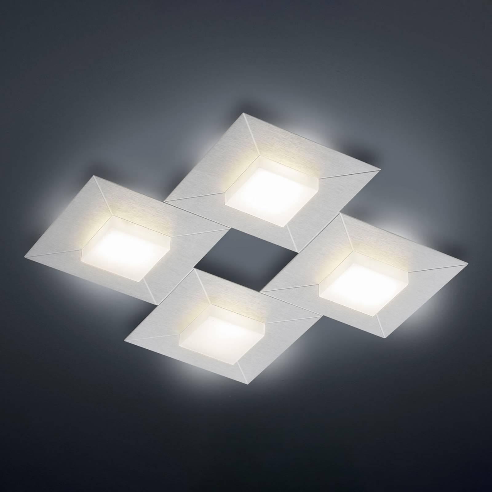 BANKAMP Diamond plafondlamp 42x42cm, zilver