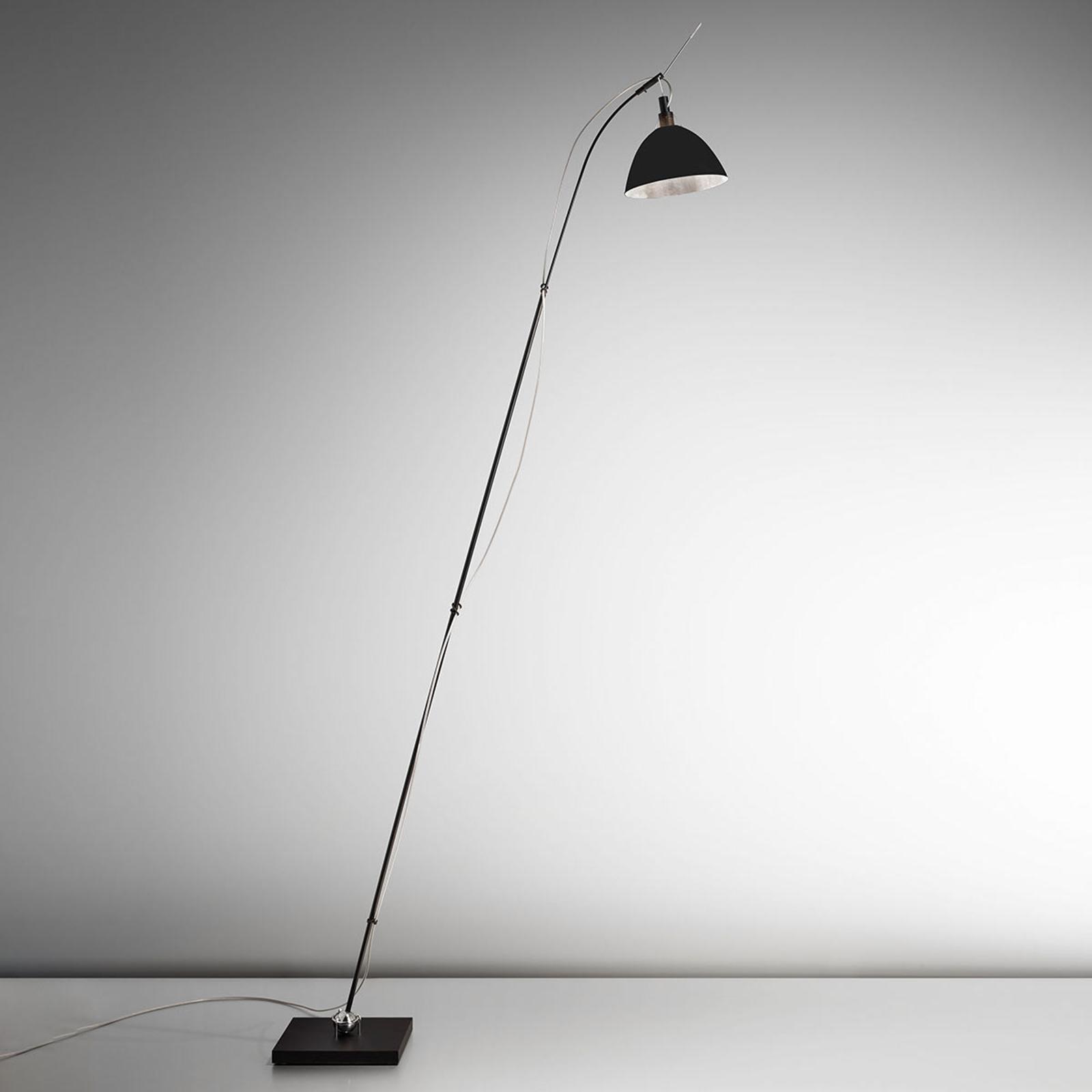 Ingo Maurer Max. Floor vloerlamp, kap zwart