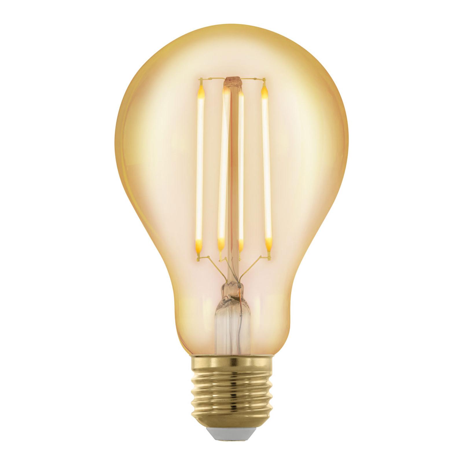 Ampoule LED E27 A75 4W filament 1700K doré