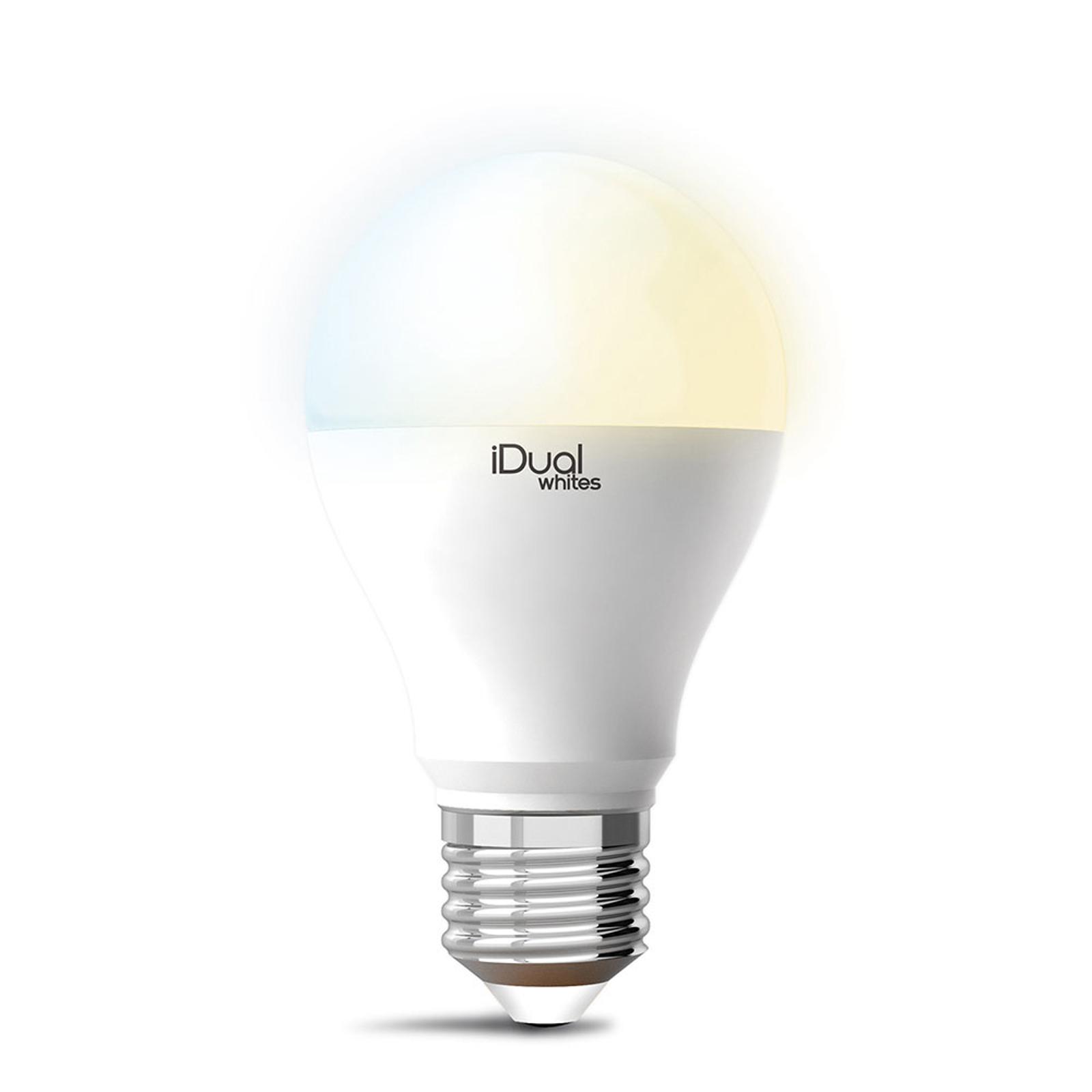 iDual Whites LED-pære E27 A60 10 W, tunable white