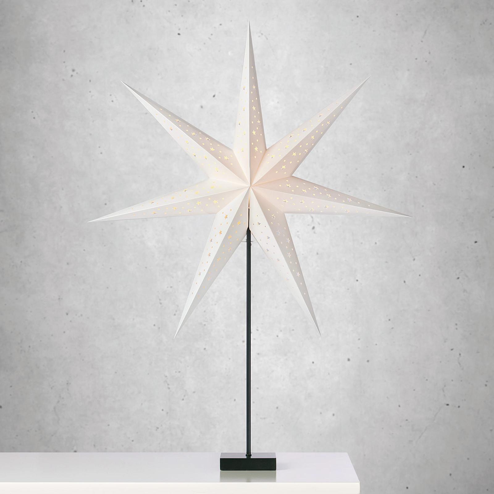 Stående stjerne Solvalla - høyde 100 cm hvit