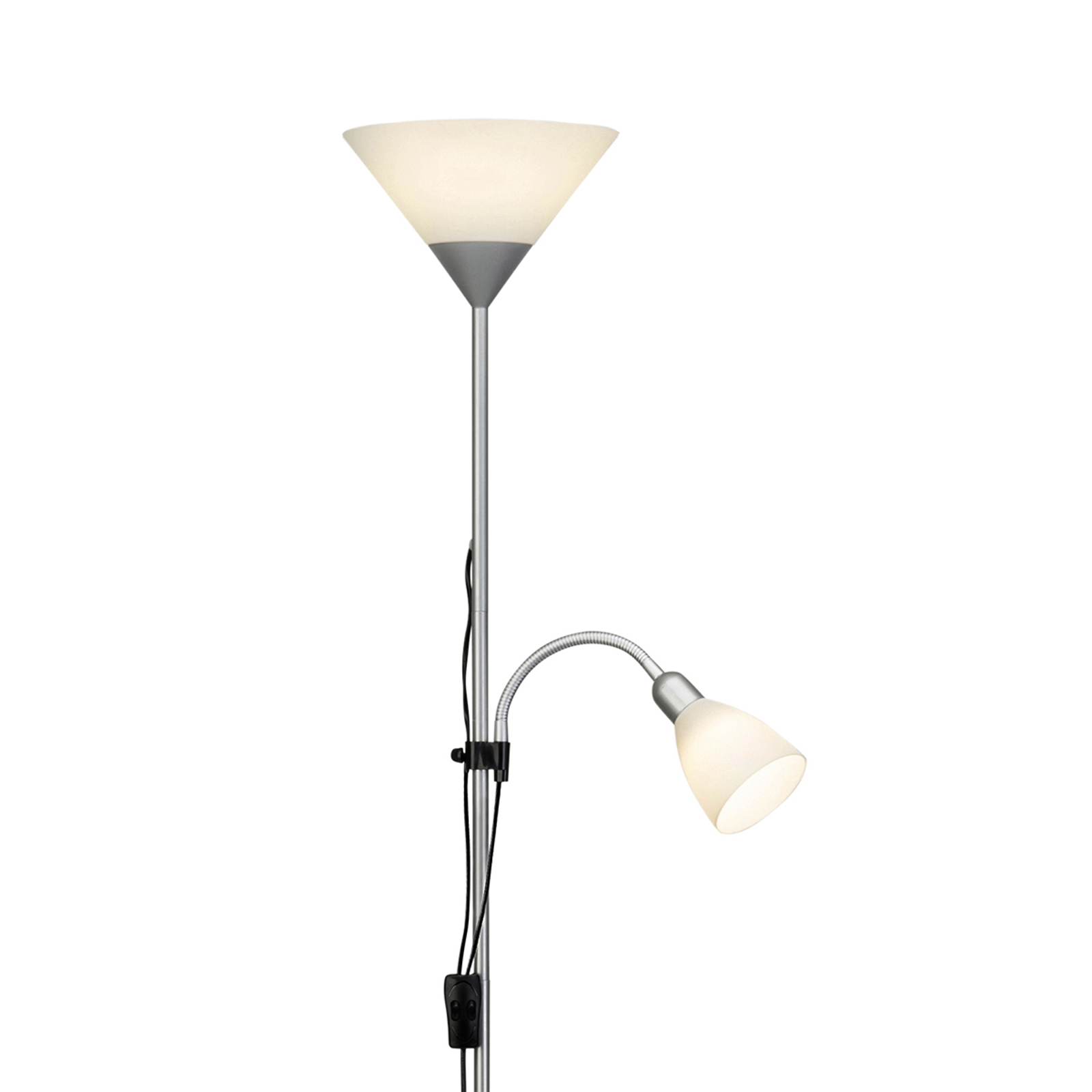 Lámpara de pie LED Spari con luz de lectura