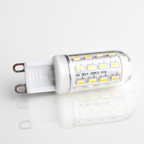 G9 3W 830 rörformad LED-lampa genomskinligt