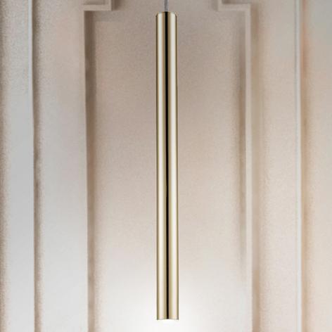 Lámpara colgante LED Varas, 1 luz, oro