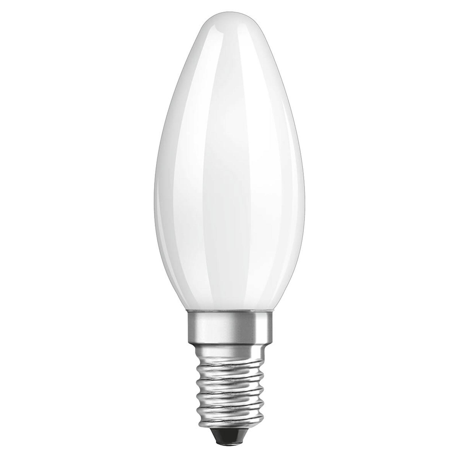 OSRAM ampoule flamme LED E14 4W 4000K mate