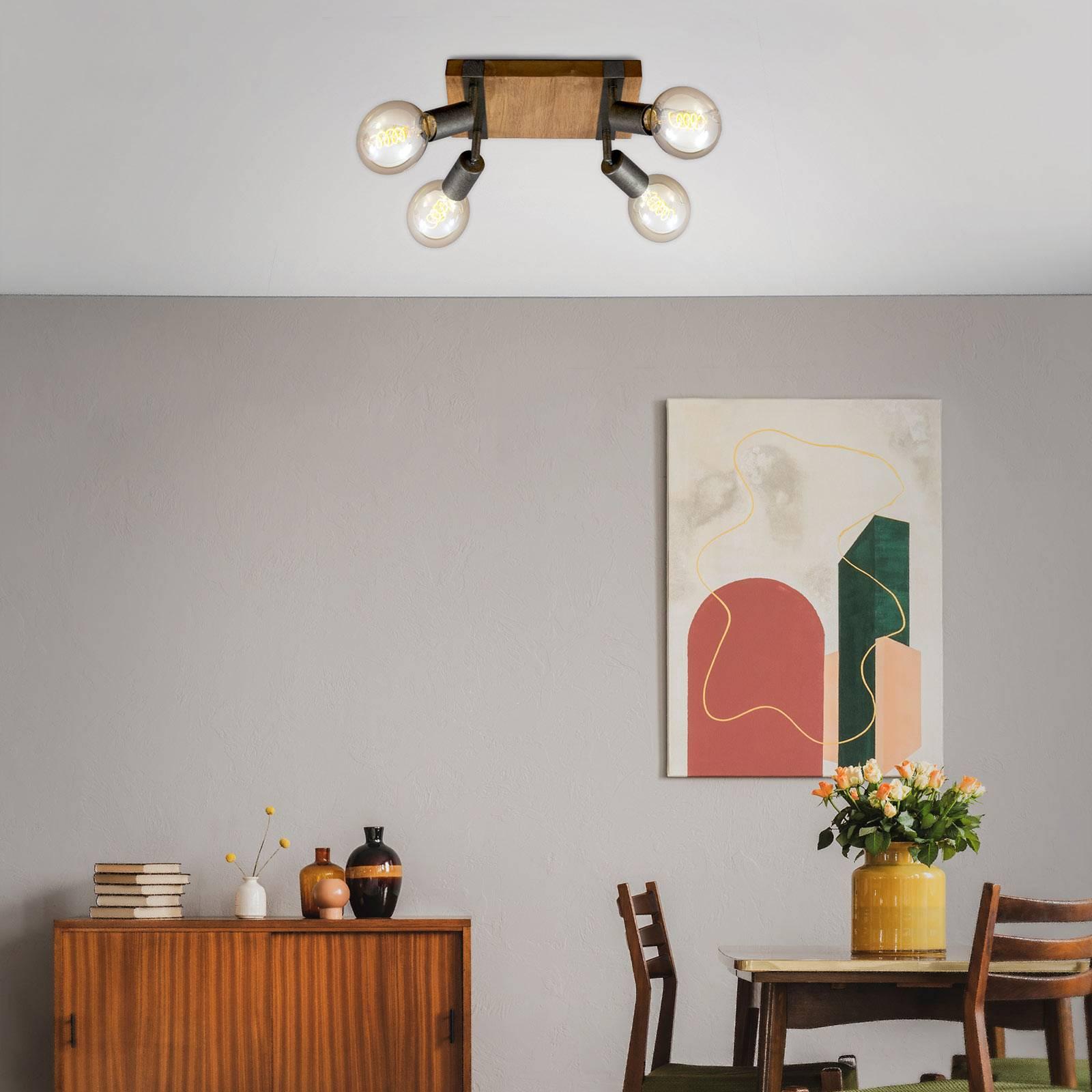 Lampa sufitowa Wood Basic, 4-punktowa