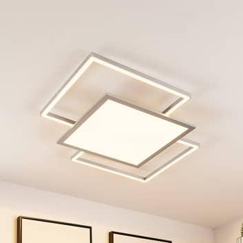 Lucande Ciaran LED-taklampa, kvadrat, CCT
