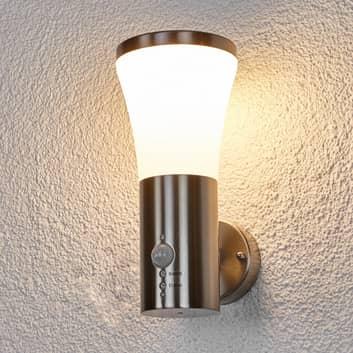 Bewegungsmelder-Wandlampe Sumea für außen, LED