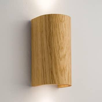 Nástěnné světlo Tube, dub 17,5cm