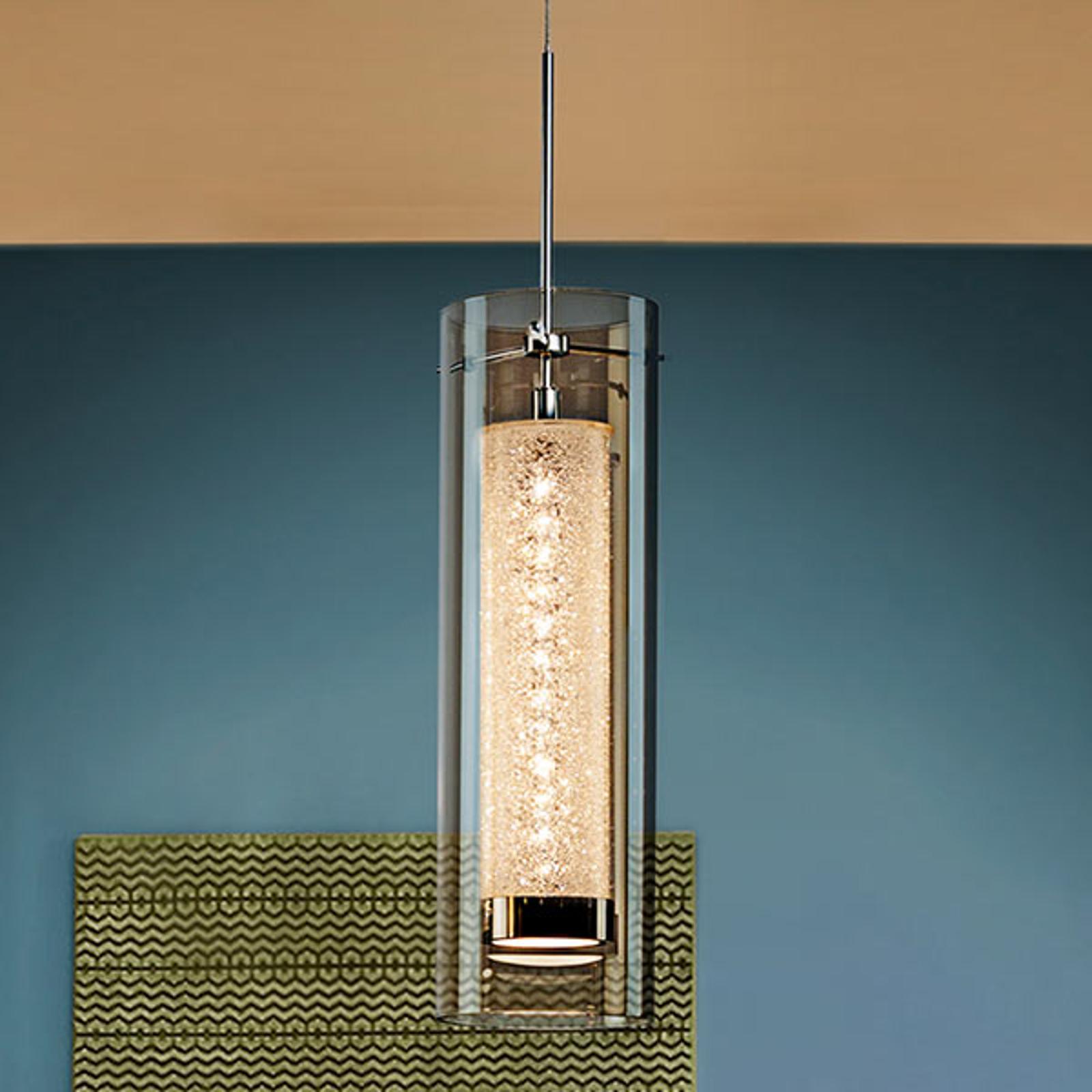 Zila – lampa wisząca LED z podwójnym kloszem