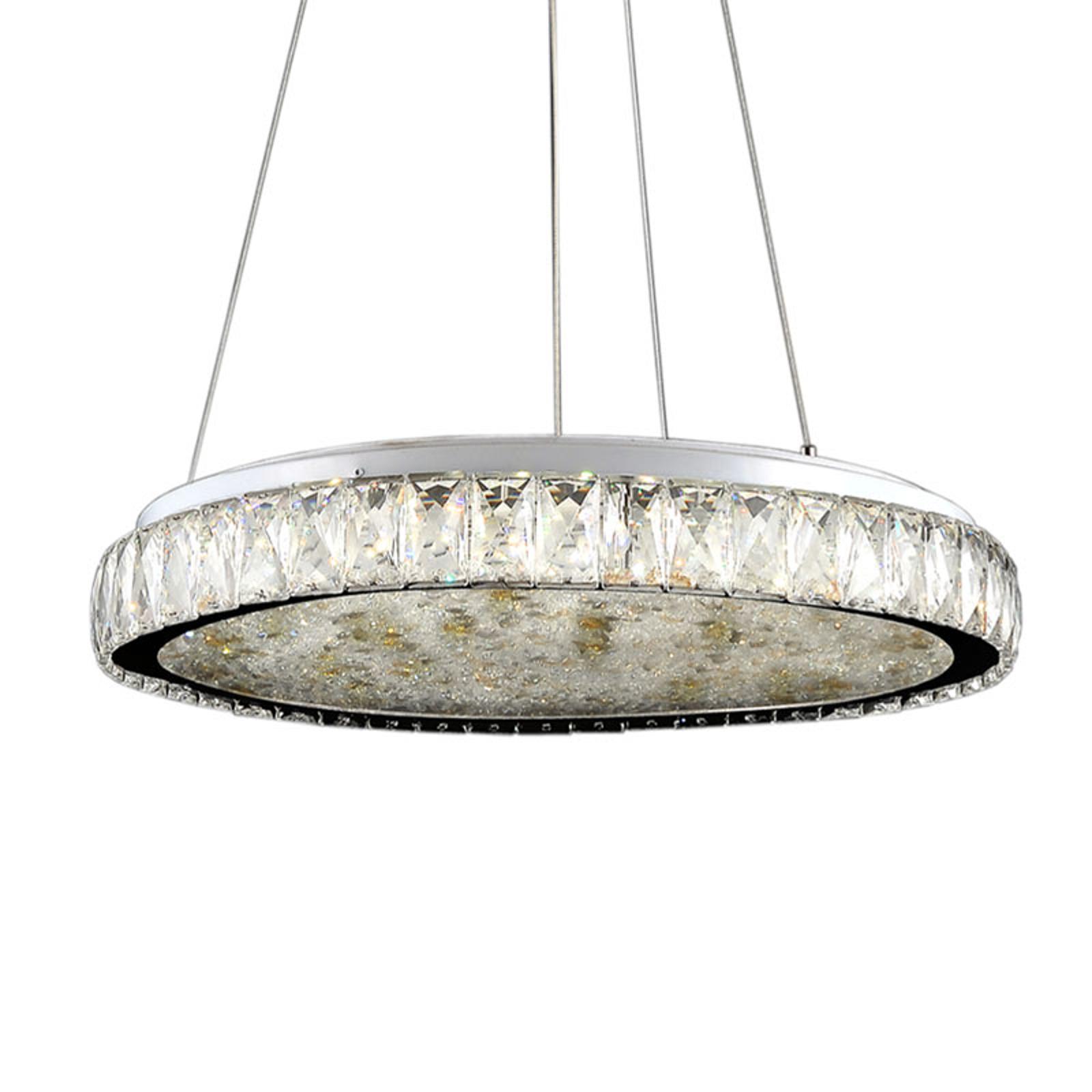 Lampa wisząca LED Dana z kryształami