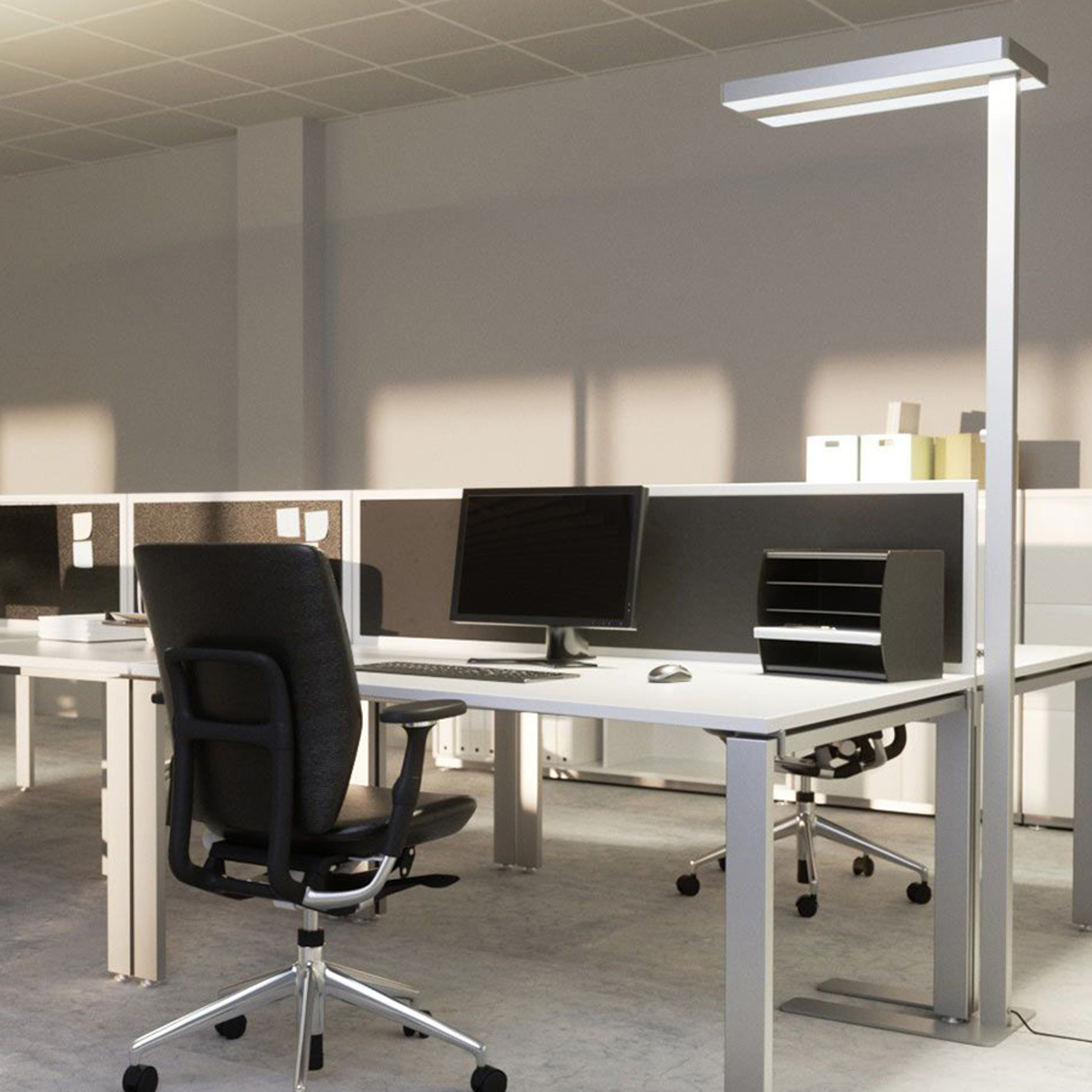 Logan LED office floor lamp with dimmer_9968008_1