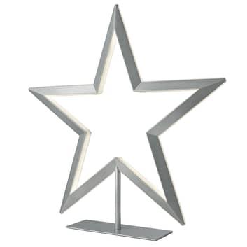 Stjerne LED-dekorationslampe i sølv
