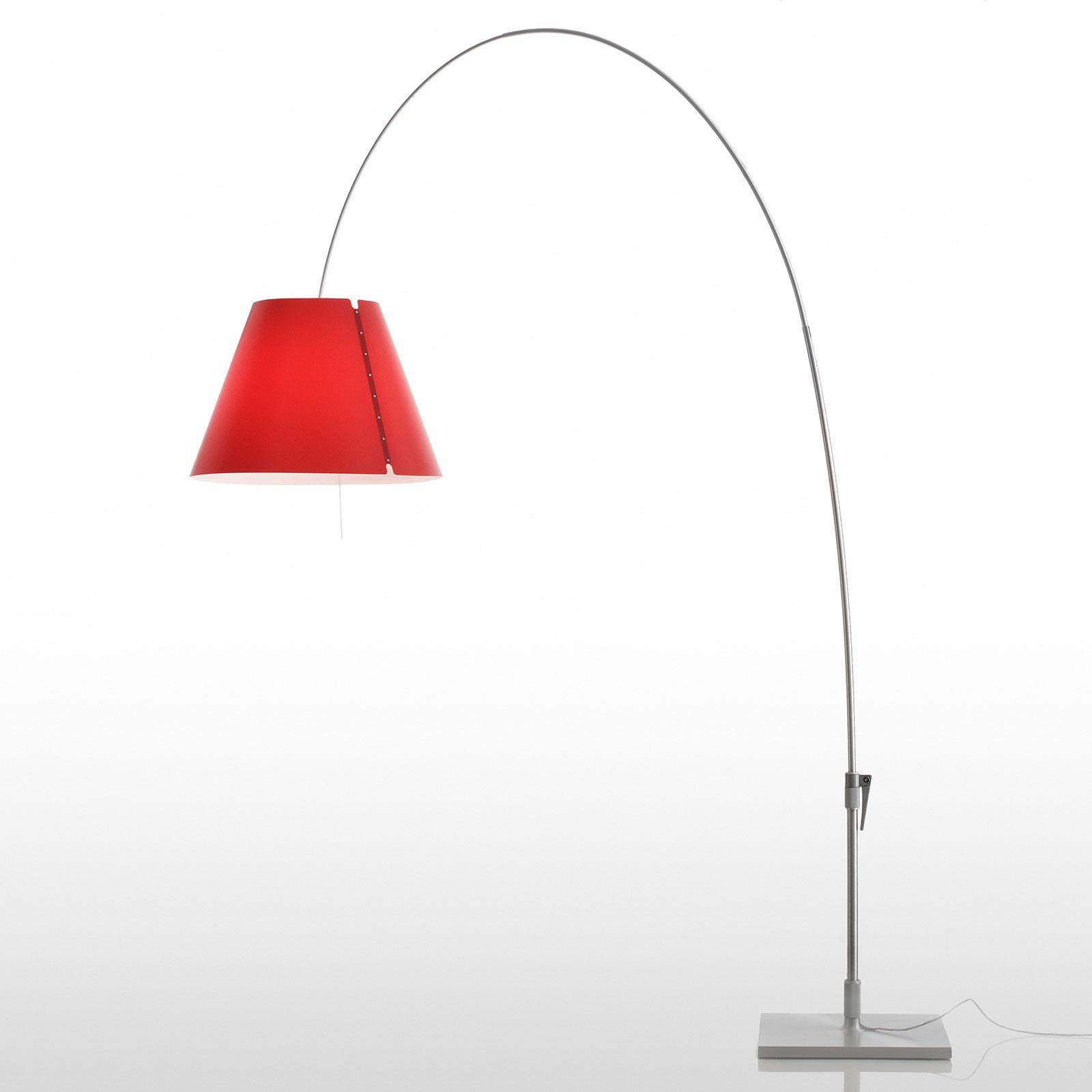 Luceplan Lady Costanza golvlampa D13E d, alu/röd