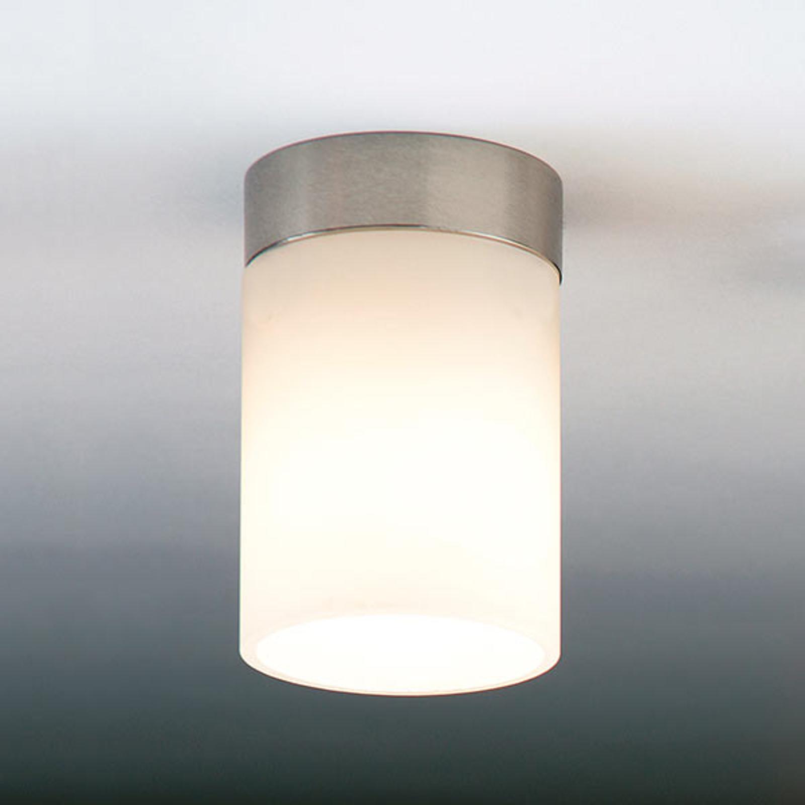 Subtelna lampa sufitowa DELA BOX SHORT, nikiel mat