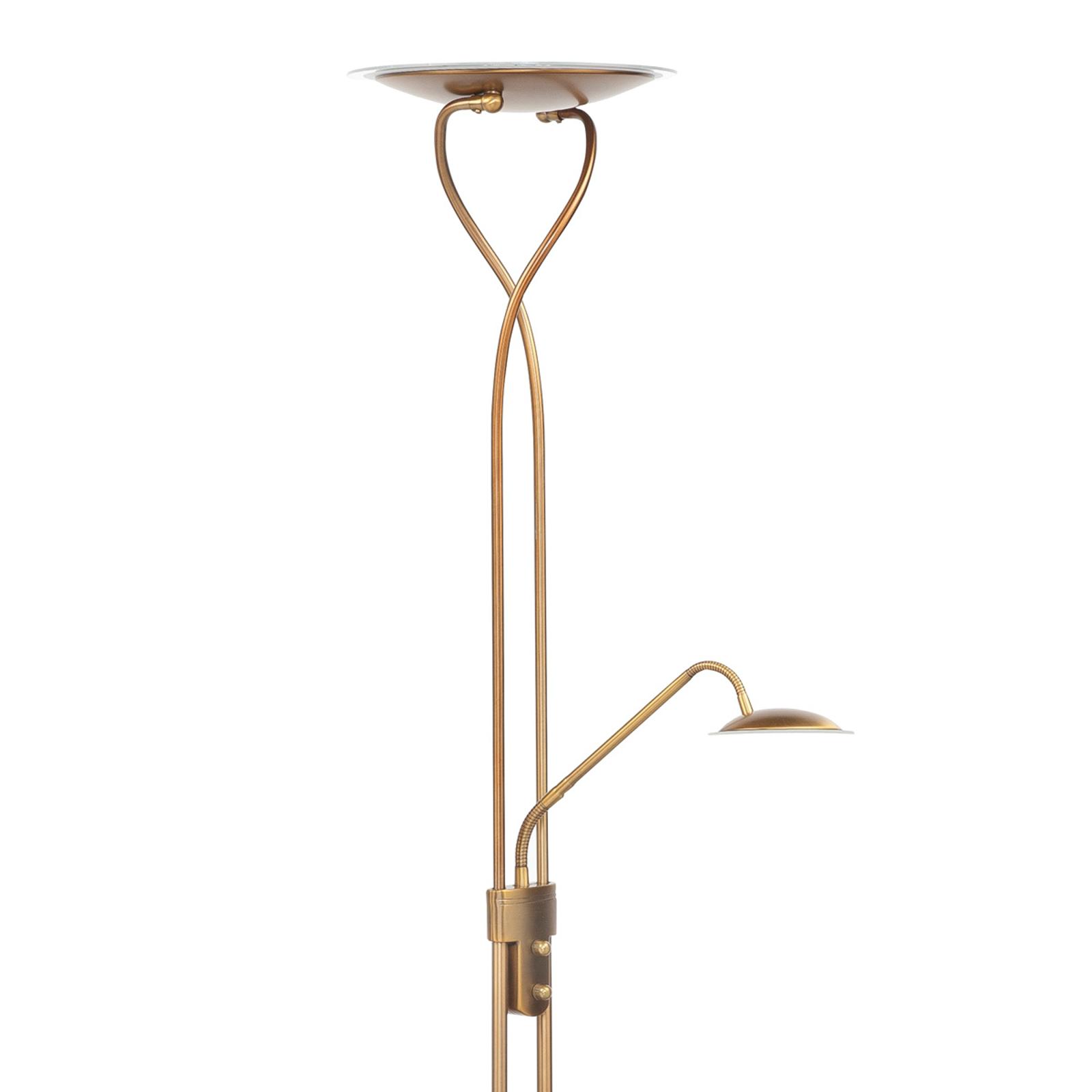 Empoli - lampadaire indirect LED bronze liseuse