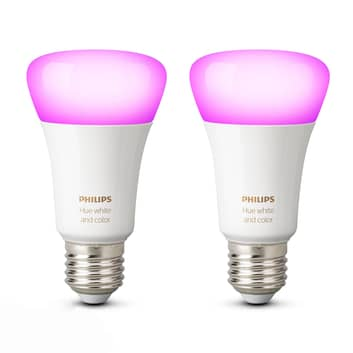 Philips Hue White & Color Ambiance 9W E27, 2-pkn.