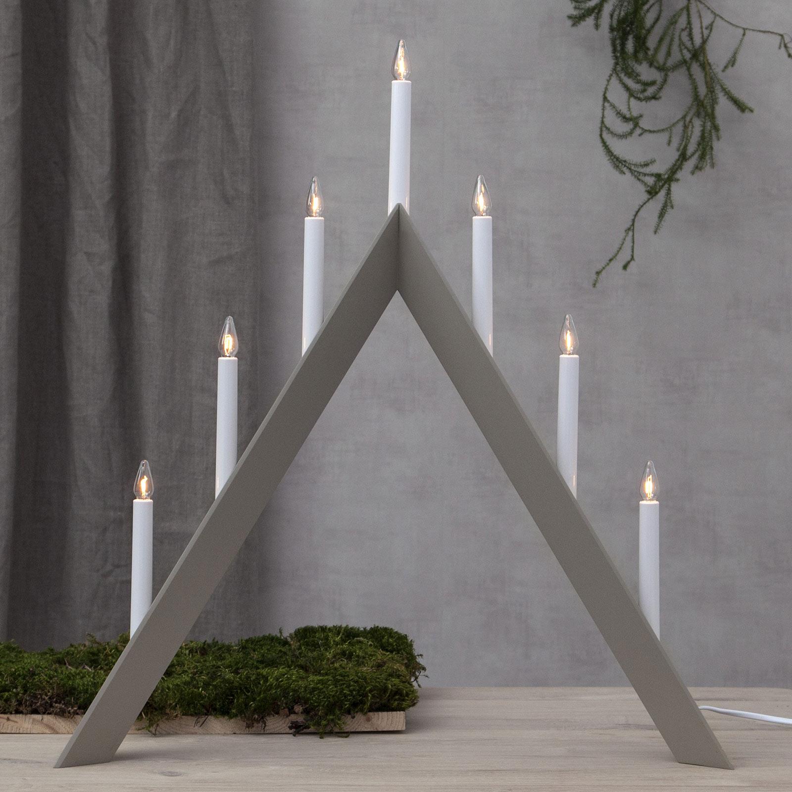 Lysestake Arrow, spiss, 7 lyskilder, grå