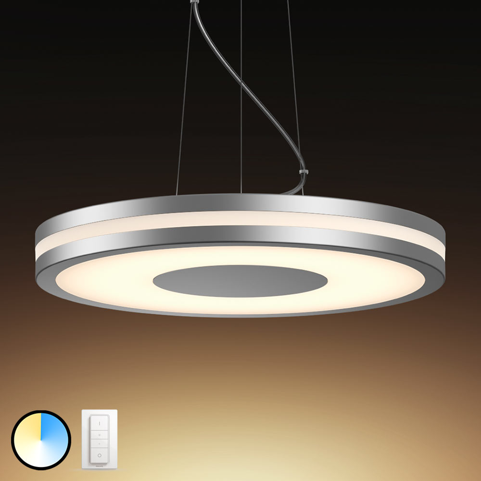 Philips Hue Being lampa wisząca LED, aluminium