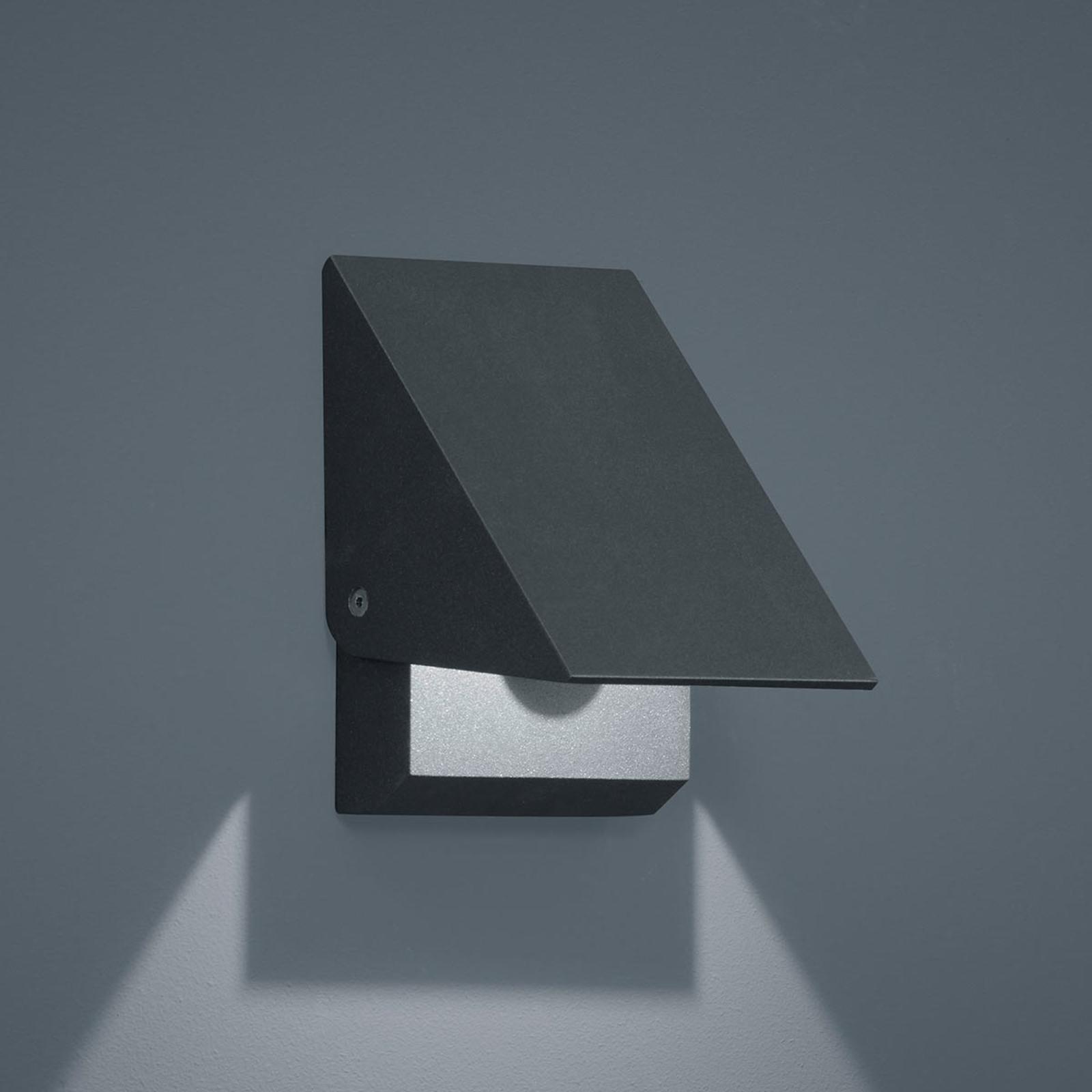 Helestra Free LED-Außenwandlampe graphit m. Blende