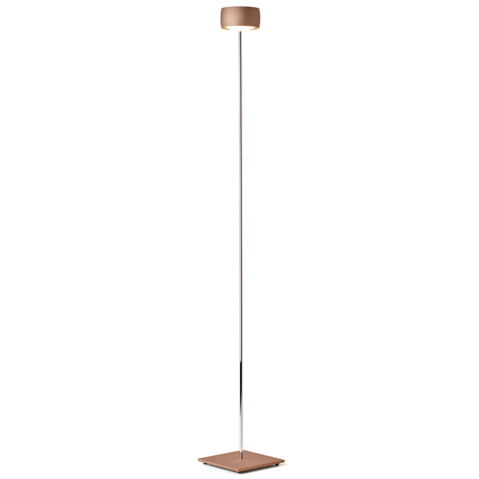 Lampa stojąca LED Grace, sterowana gestami, miedź