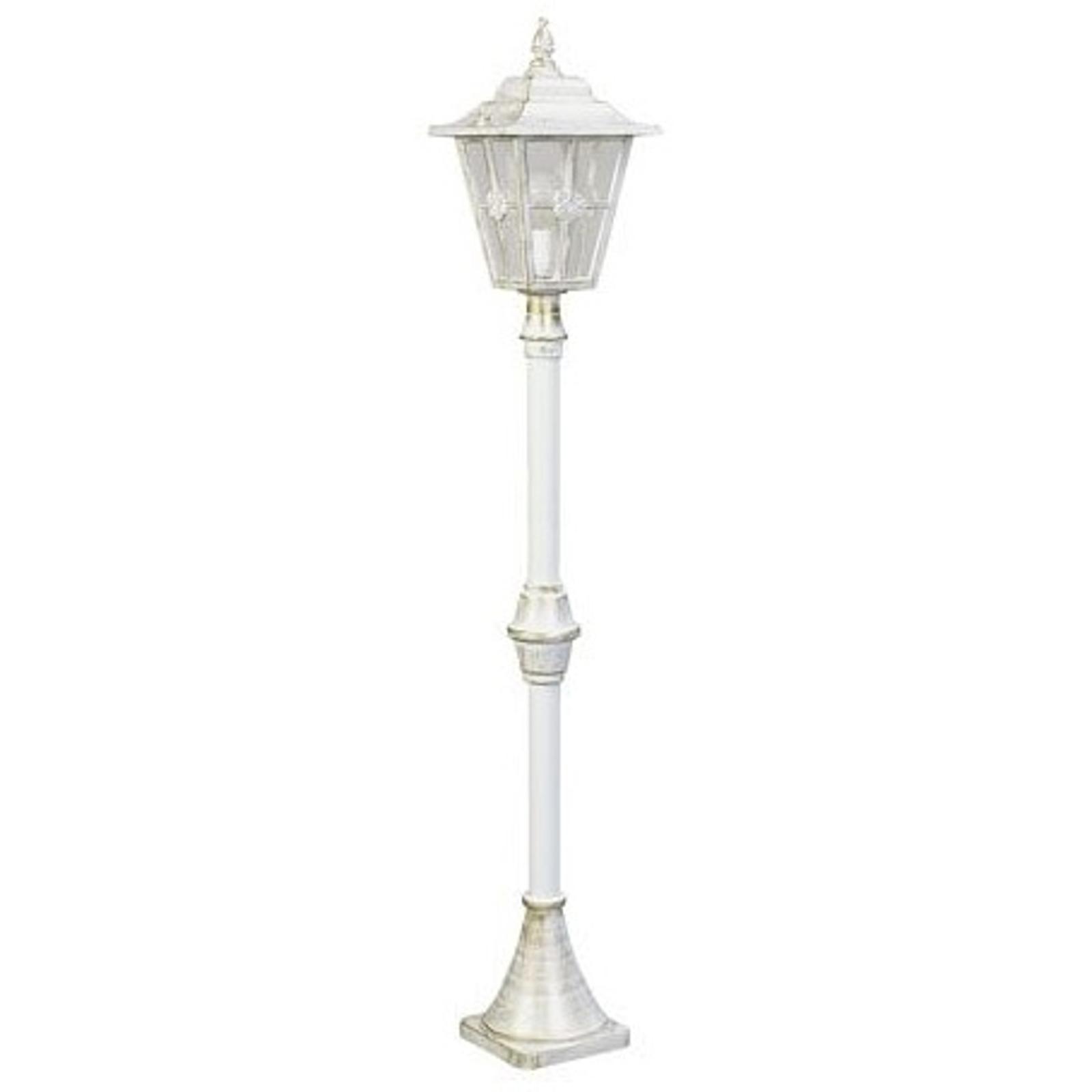 Stožárové svítidlo 772, venkovský styl, bílá