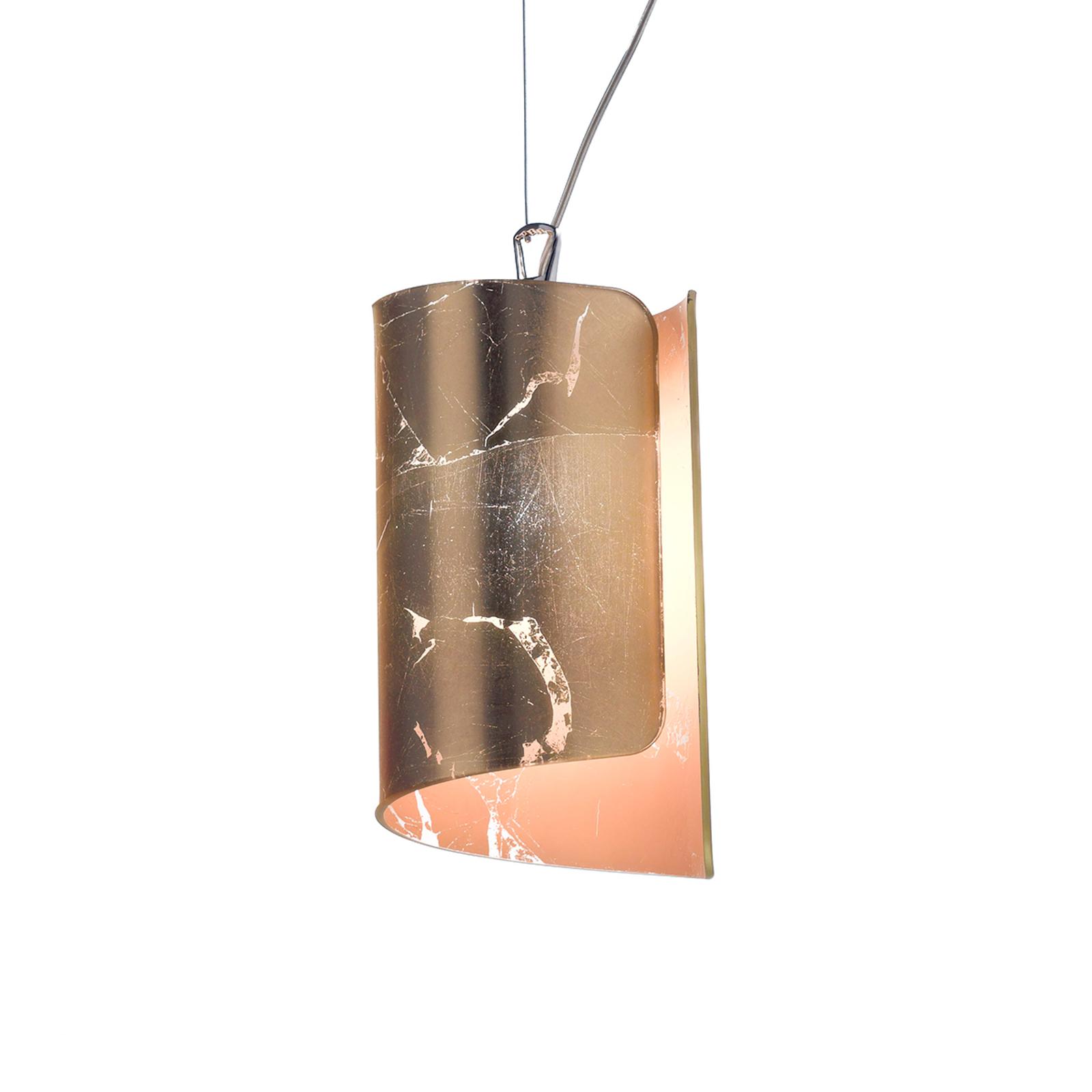Aantrekkelijke hanglamp Papiro, goudkleurig