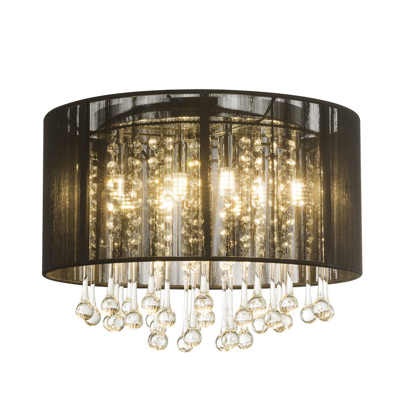 Lampa sufitowa LED Sierra z jedwabnym kloszem