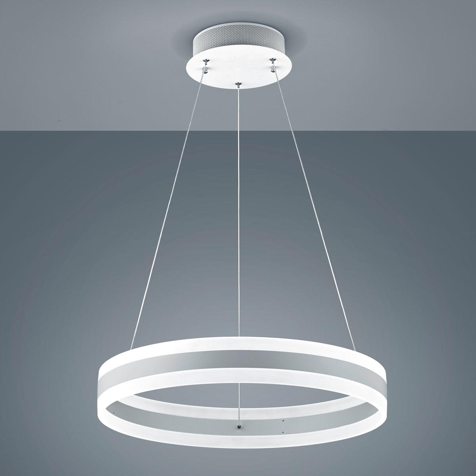 Produktové foto Helestra Helestra Liv – závěsné LED světlo, bílý mat, 60 cm