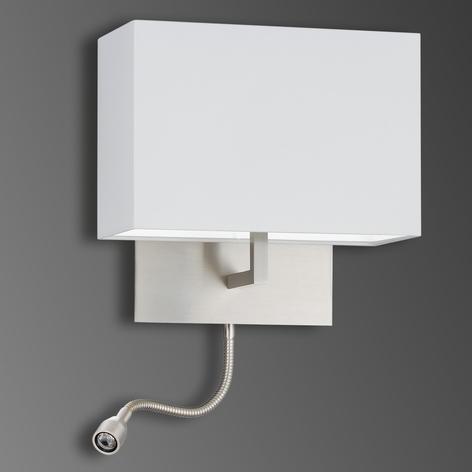 Chintz-Wandleuchte Mikola mit LED-Lesearm