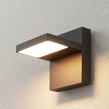 LED-ulkoseinävalaisin Silvan, tummanharmaa