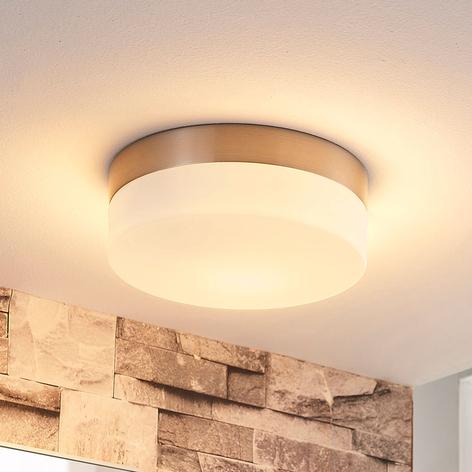 Bad-Deckenlampe Amilia mit Glasschirm