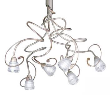Stilfull taklampa Medusa, 6 ljuskällor