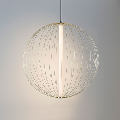 Suspension LED Carbony, dimmable, laiton