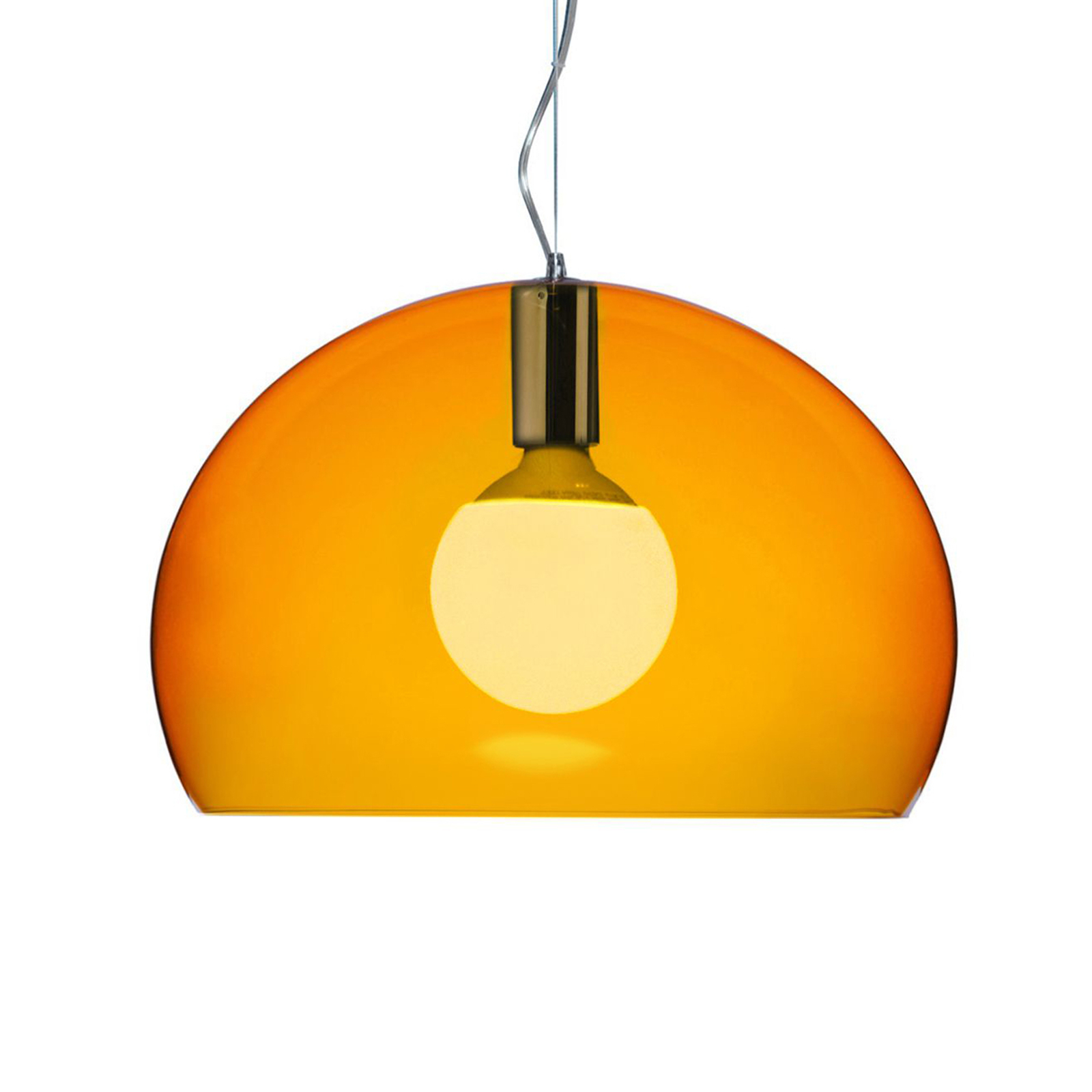 Kartell Small FL/Y LED-Hängeleuchte orange