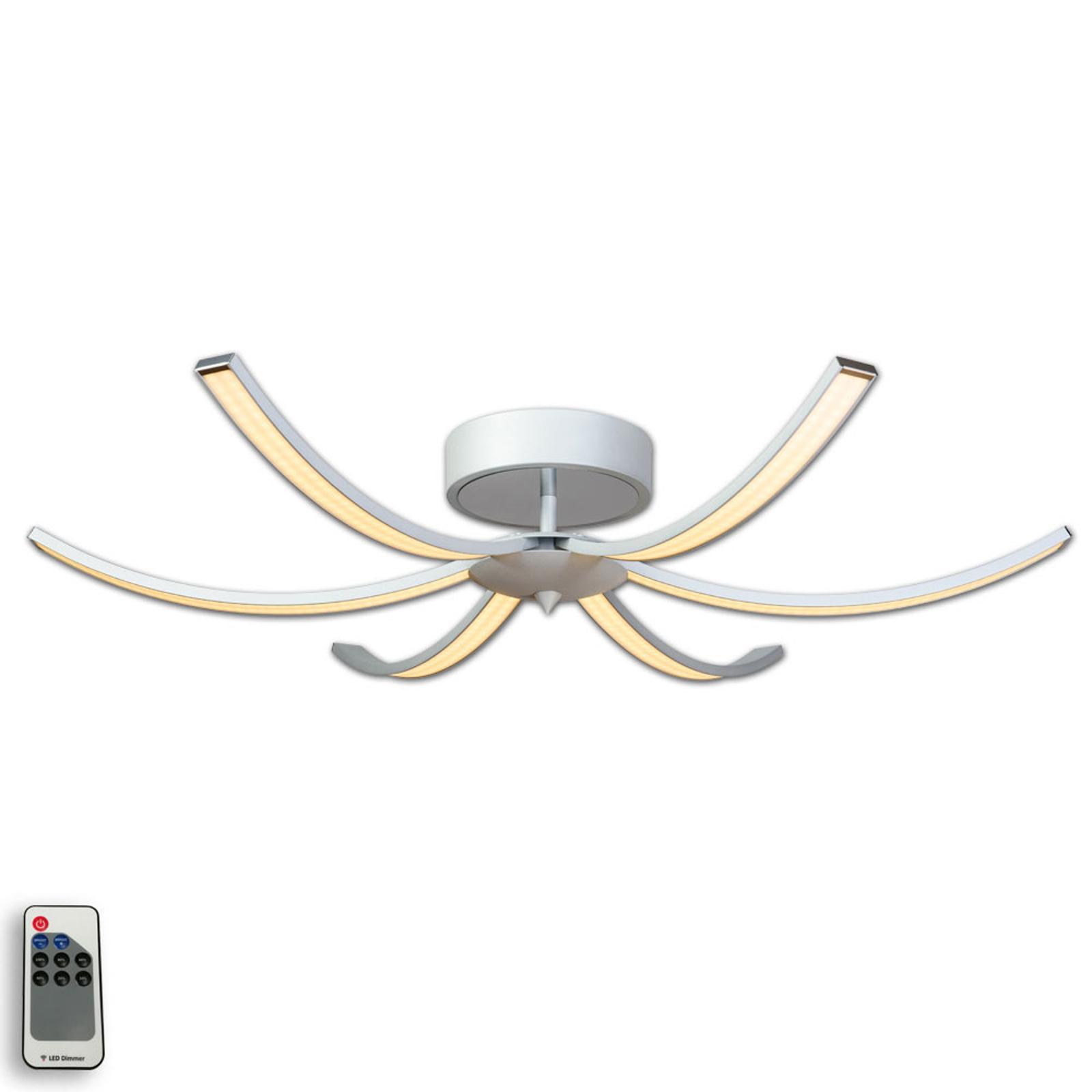 LED plafondlamp Largo 91 cm 6-lamps alu