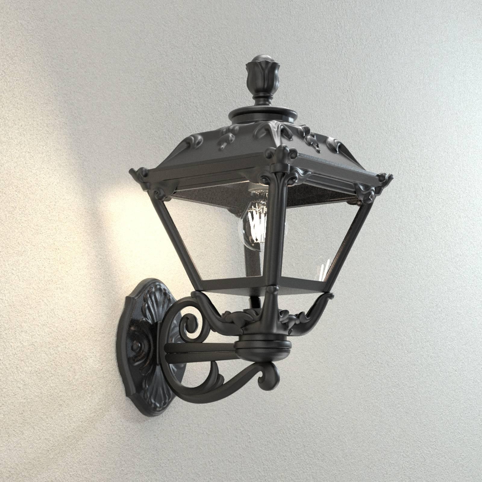 Lanterna a parete Golia per esterni, nero, 2.700 K