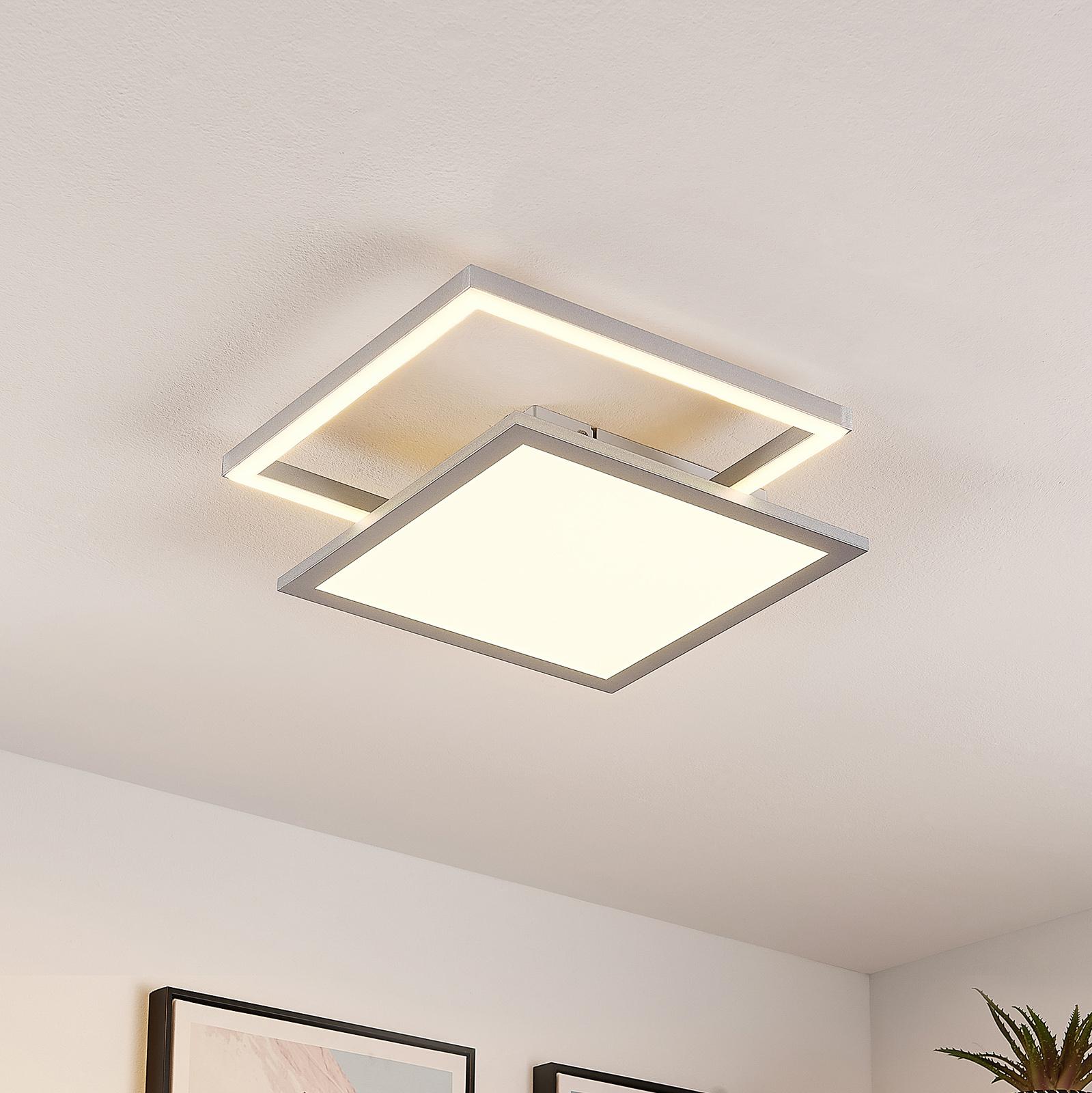 Lucande Senan LED-Deckenlampe, quadratisch