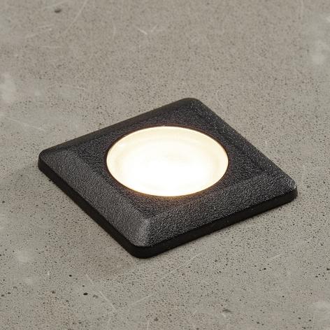 Aldo-LED-uppovalo, kulmikas, musta/kirkas 3000K
