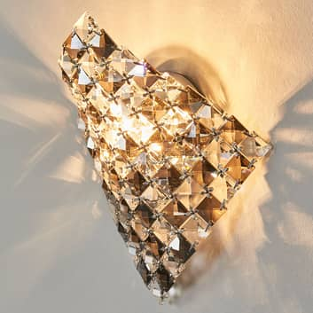 Apart vägglampa Saten i kristallglas, 25 cm