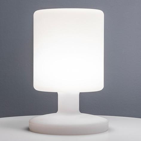 LED bordlampe Poldina med batteri og matt finish